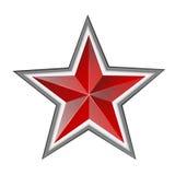 Roter Stern Stockbild