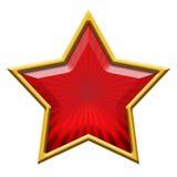 Roter Stern im Gold stock abbildung