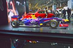 Roter Stier Vettel, internationaler Automobil-Salon August Rikyardo Moskau Stockbild