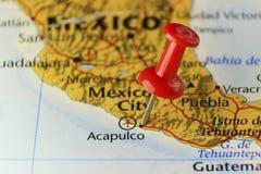 Roter Stift von Acapulco-Stadt in Mexiko Lizenzfreies Stockfoto