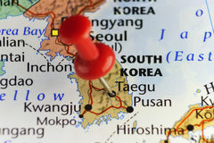 Roter Stift von Taegu, Südkorea Lizenzfreie Stockfotos