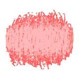 Roter Stiftgekritzel-Beschaffenheitsfleck lokalisiert auf weißem Hintergrund Stockfoto