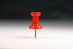 Roter StoßPin Lizenzfreies Stockfoto