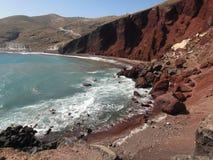 Roter Strand Stockbilder