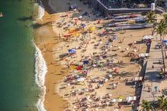 Roter Strand Rio de Janeiro stockbild
