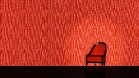 Roter Stuhl auf rotem backround Stockfotografie