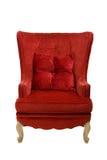 Roter Stuhl auf Weiß Stockbild