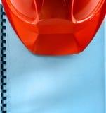 Roter Sturzhelm Stockfoto