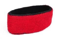 Roter Sweatband (Stirnband) Stockbilder