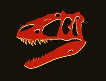 Roter t-rex Neonschädel lizenzfreie stockbilder