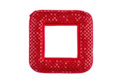 Roter Taschenspiegel Stockbild