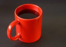 Roter Tasse Kaffee Stockfotografie