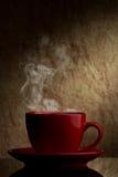 Roter Tasse Kaffee Lizenzfreies Stockbild