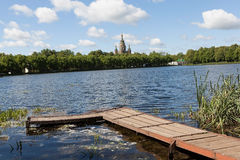 Roter Teich. Peterhof. Lizenzfreie Stockfotografie