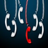 Roter Telefon-Empfänger Stockbild