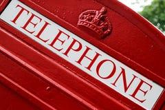 Roter Telefon-Kasten Stockfoto