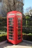 Roter Telefon-Kasten, London Stockbild