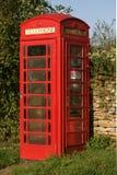 Roter Telefon-Kastenabschluß oben lizenzfreies stockfoto