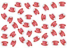 Roter Telefonhintergrund Stockbild