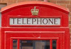 Roter Telefonkasten Stockfotografie