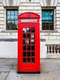 Roter Telefonkasten in London, hdr Lizenzfreie Stockfotografie