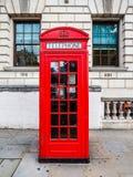 Roter Telefonkasten in London (hdr) Lizenzfreie Stockfotografie