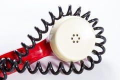 Telefonsprecher mit eingewickeltem Draht Lizenzfreie Stockfotos