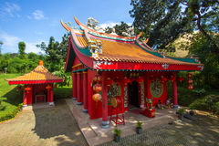 Roter Tempel Stockfotografie