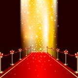 Roter Teppich Stockbild