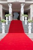 Roter Teppich stockfotografie