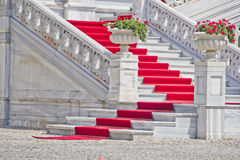 Roter Teppich lizenzfreie stockfotografie