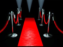 Roter Teppich lizenzfreies stockbild