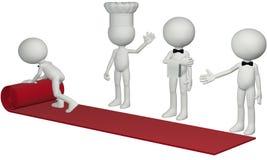 Roter Teppich der Gaststättechefkellnerrollengastfreundschaft Lizenzfreie Stockfotos