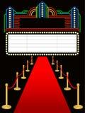 Roter Teppich erstes Marquee/ENV stock abbildung