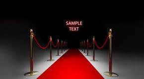 Roter Teppich getrennt auf Schwarzem Stockbilder