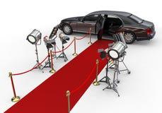 Roter Teppich-private Limousine Lizenzfreie Stockfotos