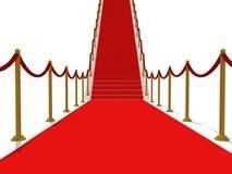 Roter Teppich-Treppen - Treppenhaus zum Ruhm Stockbild