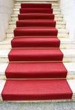 Roter Teppich und Los Angeles im Stadtzentrum gelegen Lizenzfreie Stockfotos