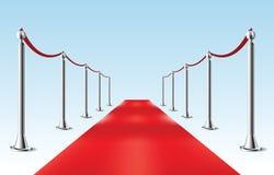 Roter Teppich. Vektorillustration. Lokalisiert Stockbilder