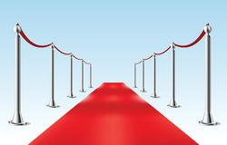 Roter Teppich. Vektorillustration. Lokalisiert stock abbildung