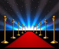 Roter Teppich zu den Sternen Lizenzfreies Stockbild