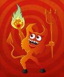 Roter Teufel der Karikatur. Stockfotos