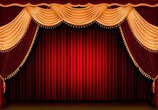 Roter Theatertrennvorhang vektor abbildung