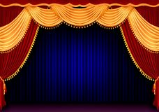 Roter Theatertrennvorhang Lizenzfreies Stockbild