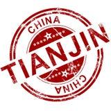 Roter Tianjin-Stempel Lizenzfreie Stockfotografie