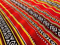 Roter traditioneller Teppich Lizenzfreies Stockbild