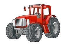 Roter Traktor Lizenzfreies Stockfoto