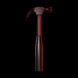 Roter transparenter Hammer Stockbilder