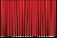 Roter Trennvorhang Stockfoto