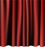Roter Trennvorhang für die Stufe. Editable vektormaschen. Stockbild